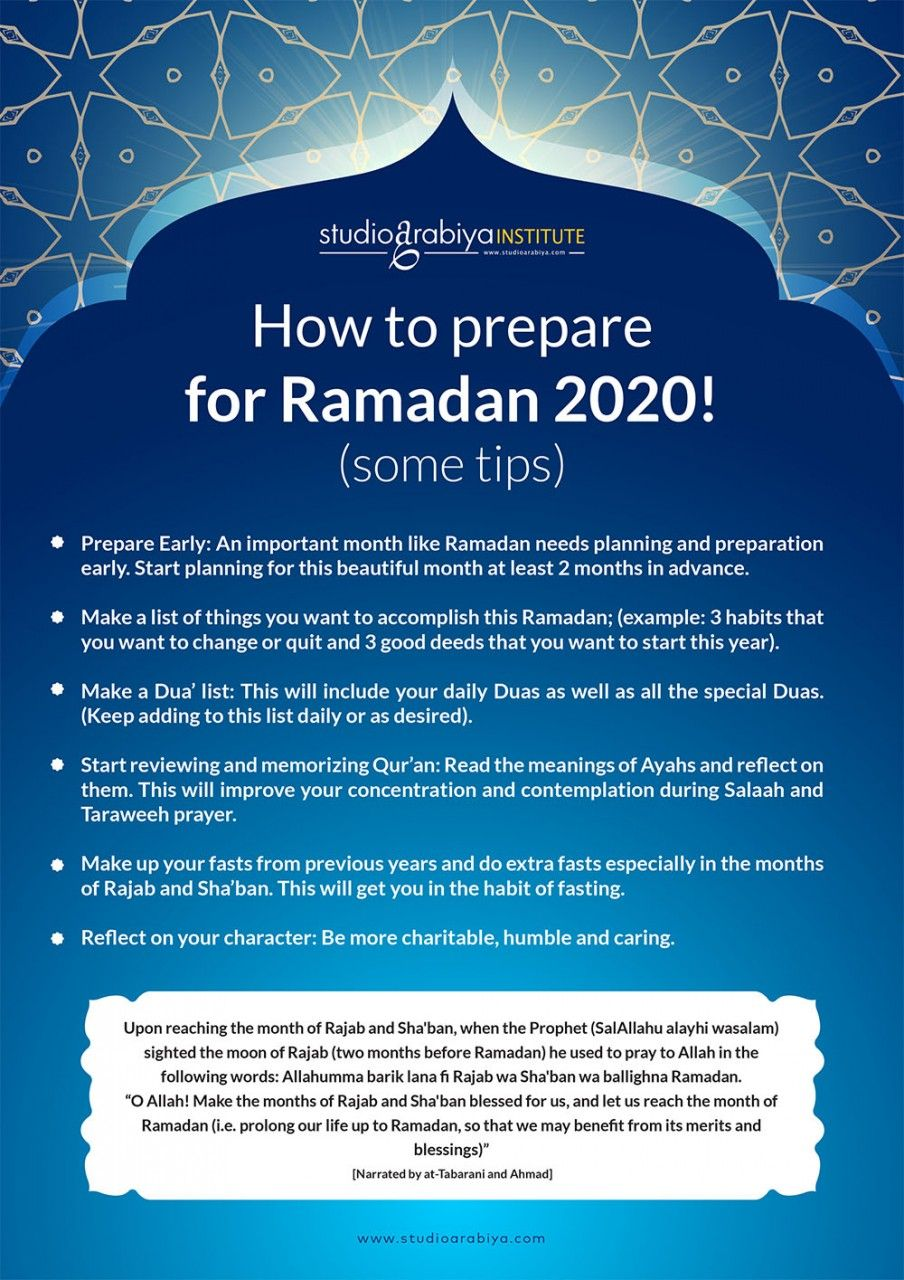 How to Prepare for Ramadan 2020!